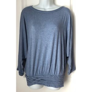 5 FOR $20 - Sophie Max Blue 3/4 Dolman Sleeve Top